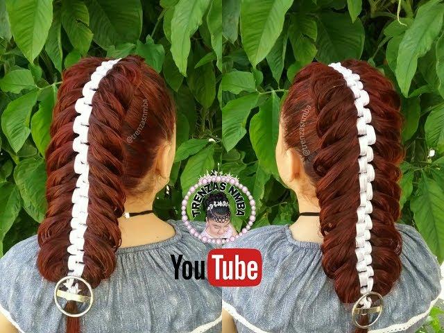 peinados con trenza con listón/ fácil y bonito /trenzas nmba