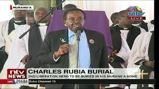 Charles Rubia to be buried in his Murang'a home