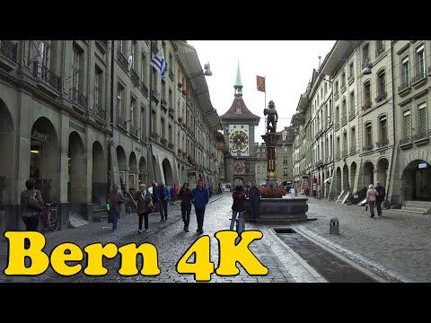 Walk Around Bern Switzerland 4K.