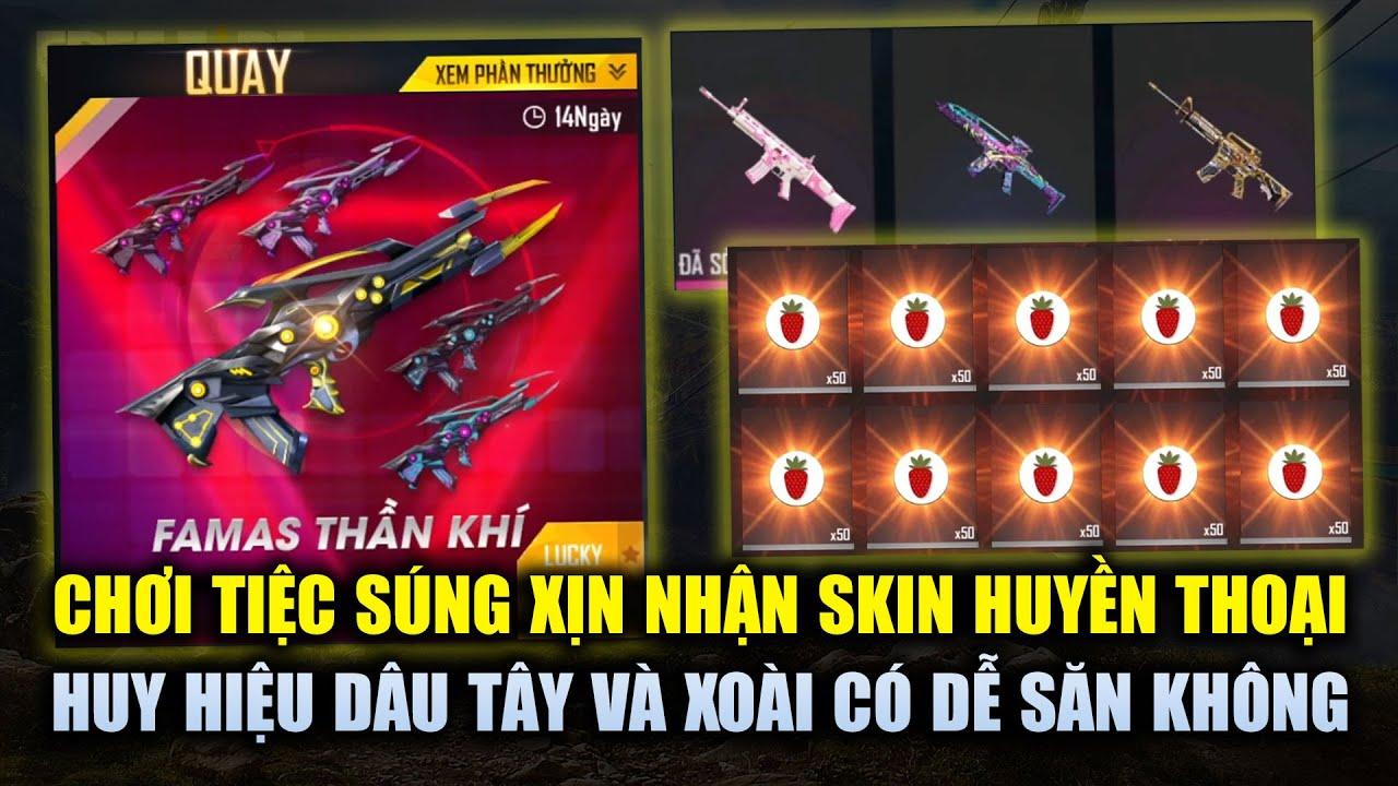 Free Fire | Chơi Tiệc Súng Xịn Săn Loạt Skin Huyền Thoại AK Rồng Lửa, SCAR Tình Yêu | Rikaki Gaming