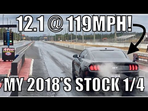 2018 Mustang GT RUNS its BEST 1/4 mile Time Yet!