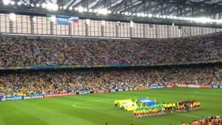 Algeria v Russia national anthems at Arena de Baixada , Curitiba 26-06-14