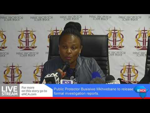 Public Protector briefs the media