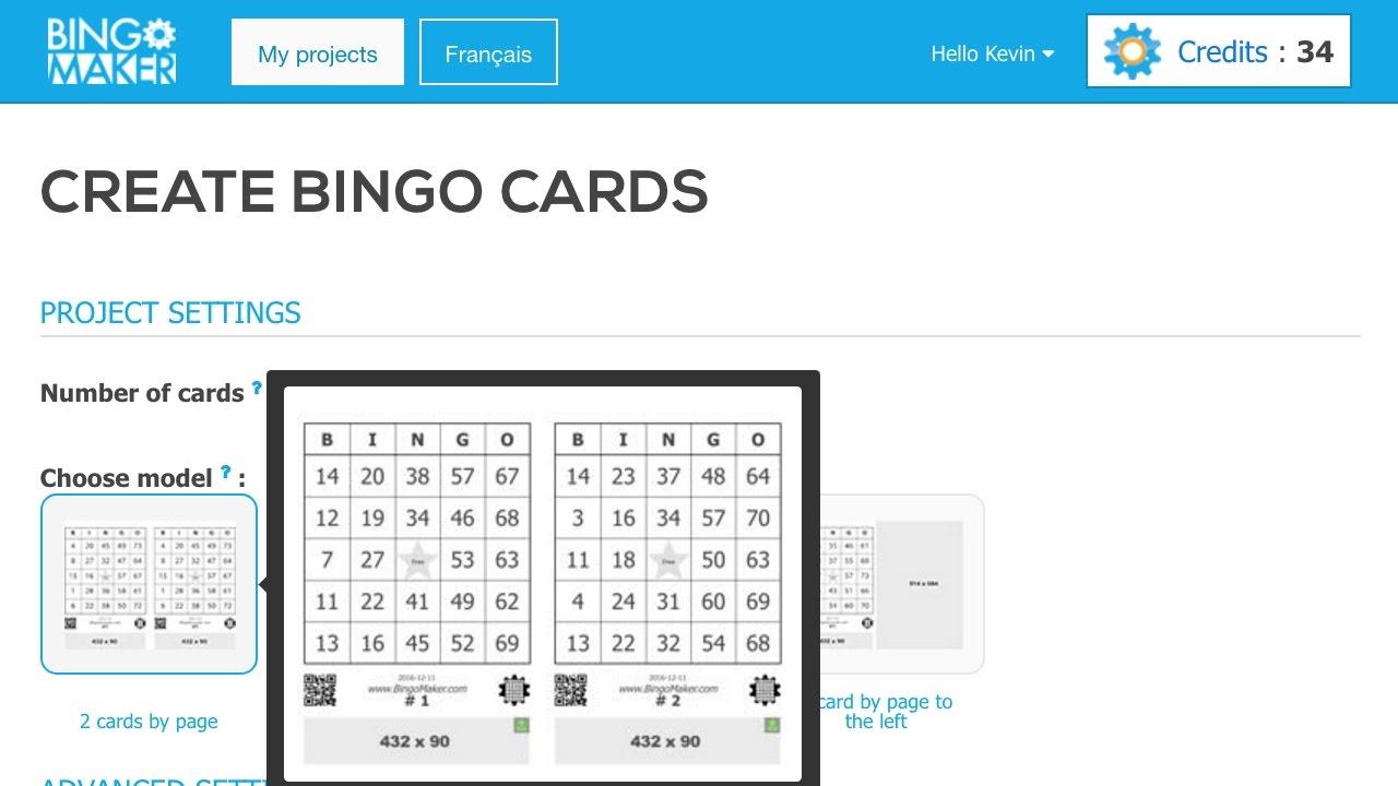 generate bingo cards