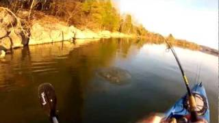 "No More Lies - Full Hd - Gopro Kayak Bass Fishing- Awolnation ""Sail"""
