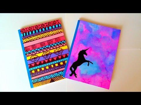 Diy ideas para decorar tus cuadernos youtube music lyrics - Como decorar cuadernos ...