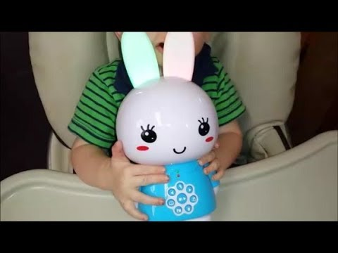 alilo Honey Bunny 8GB Toddler Music Player Sleep Soother for Baby Toy with Voice Recorder