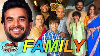 R Madhavan Family With Parents, Wife, Son & Near