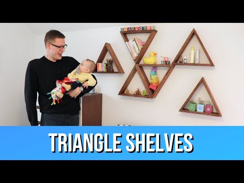 DIY Geometric Triangle Shelves | Crafted Workshop Style