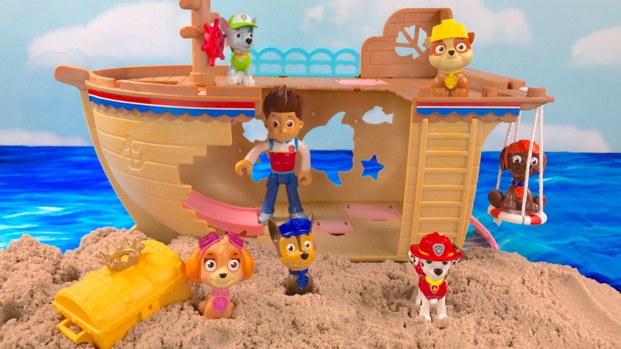 Fizzy Fun Toys: Paw Patrol Ship With Hidden Treasure