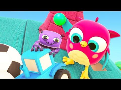 Весёлые детские песенки онлайн - Совёнок Хоп хоп и Паучок - Развивающие мультики для малышей