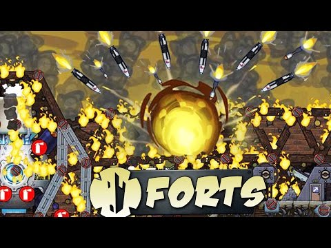 Forts SUPER WEAPON Domination!  (Forts Gameplay)