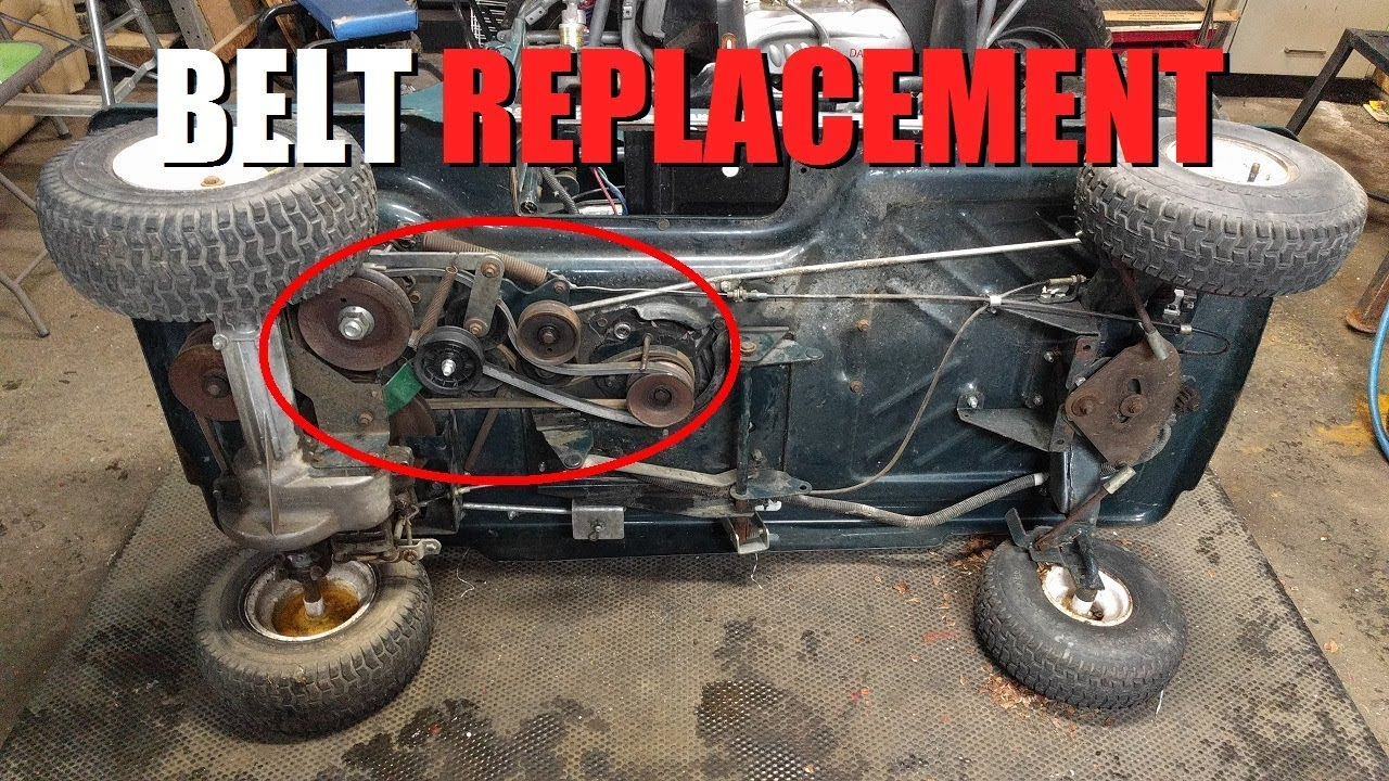 craftsman utility vehicle drive belt replacement [ 1280 x 720 Pixel ]