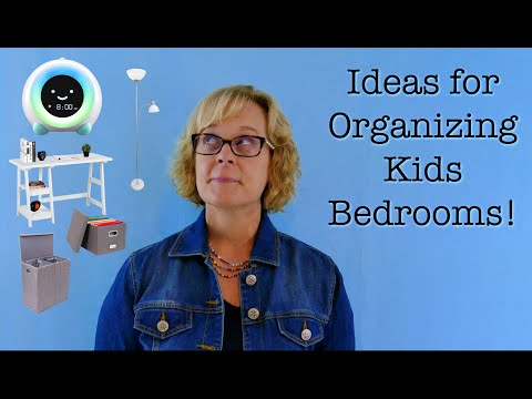 Ideas for Organizing Kids Bedrooms