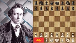 Morphy Destroys his Childhood Friend With Rook and Knight Odds! Amazing game :)
