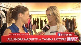 Yanina Latorre trató de marginal a Alejandra Maglietti y se dio vuelta para no contestarle