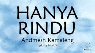 Andmesh Kamaleng - Hanya Rindu (Karaoke)
