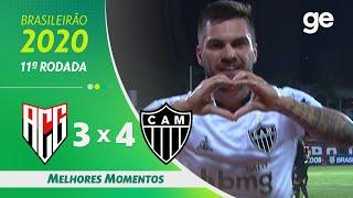 ATLÉTICO-GO 3 X 4 ATLÉTICO-MG | MELHORES MOMENTOS | 11ª RODADA DO BRASILEIRÃO | ge.globo