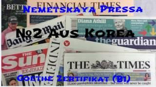 Урок №2.Немецкие газеты и журналы c переводом!!!Смотрим и читаем !!!!НОвые слова в коментарии!!!!