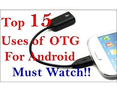 TOP 15 USES OF OTG CABLE FOR ANDROID IN HINDI