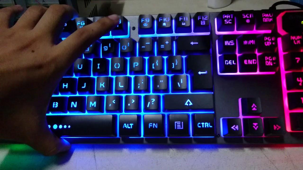 64eac50e9c3 Unboxing Review Fantech Fighter K611L LED Backlit Gaming Keyboard ...