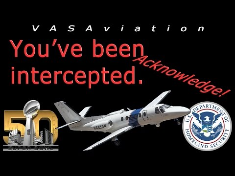 [REAL ATC] Aircraft INTERCEPTED by a DHS Citation at SUPER BOWL 50!