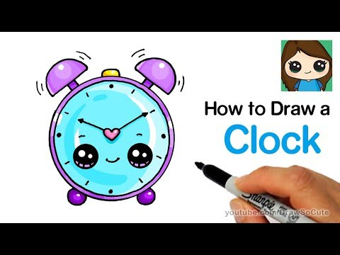 How To Draw An Alarm Clock Easy And Cute Youtube