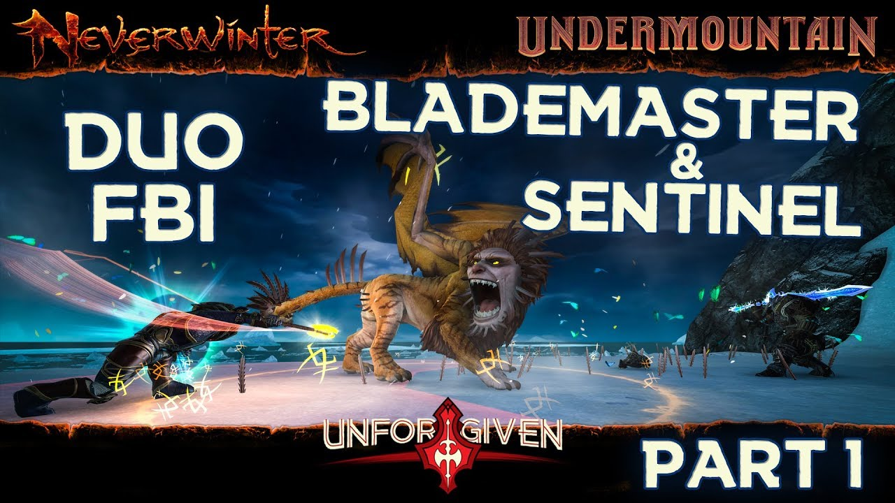 Neverwinter Mod 16 - FBI Duo Barbarian Blademaster & Sentinel Augment Run Part 1 Unforgiven (108