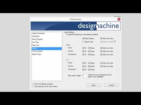 Configure Wire Labels In Design Machine