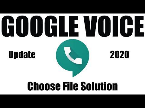 Google Voice Create 2020 | G-V Choose File Problem Solve | Tech Bangla 147