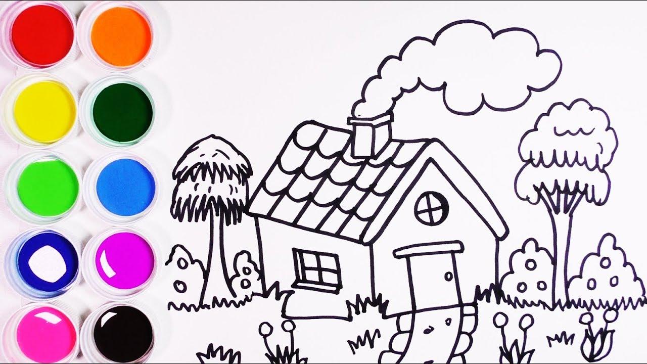 Cómo Dibujar Y Colorear Casa De Campo Arte Y Color Para Niños Learn Colors Funkeep