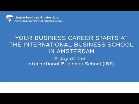 Your business career starts at the Amsterdam School of International Business