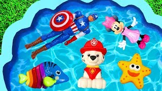 Learn with Characters, Pj Masks, Super Heroes, Paw Patrol, Minnie Mouse and Toys Animals