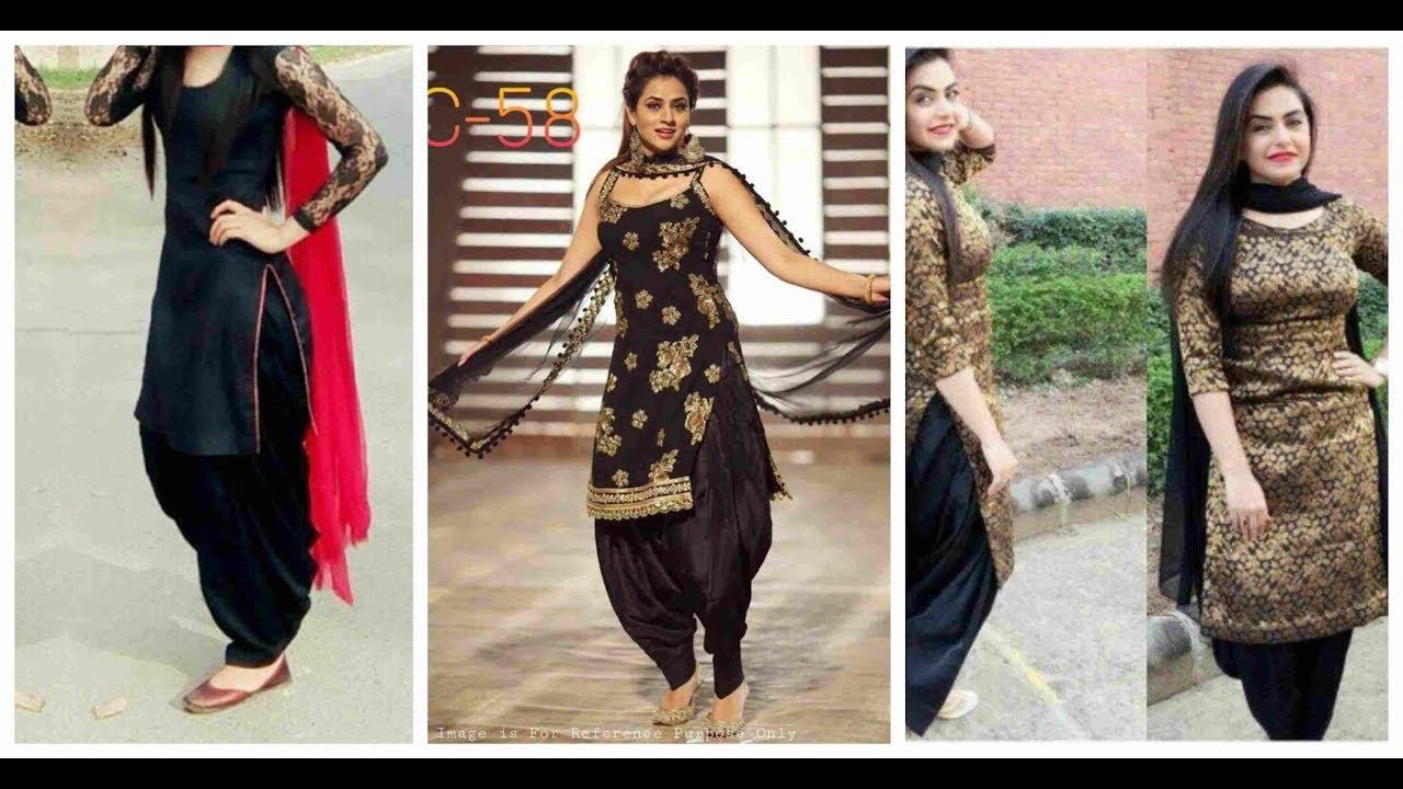 Most Beautiful Black Suit Design 2019 2020 Punjabi Black Suit For Girls Ideas Youtube
