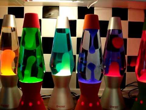 Mathmos - Lava Flows 17 - 9x Mathmos Astro Lava Lamps In Full Flow.