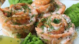 Рецепт- Розочки из красной рыбы