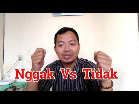 """Индонезийский Язык для начинающих : сленг """"nggak, gitu, gini"""""""