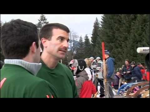 BBC Documentary filmed in Bavaria - Hornsleighing (High Quality)