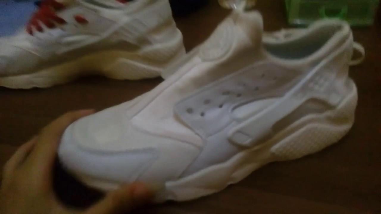 come annodare nike air huarache triplo scarpe bianche lacci bagliore in