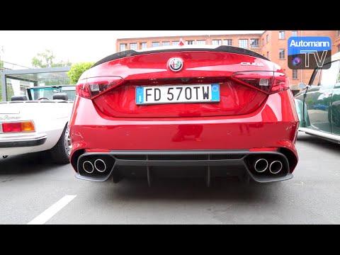 2017 giulia quadrifoglio 510hp exhaust sound 60fps