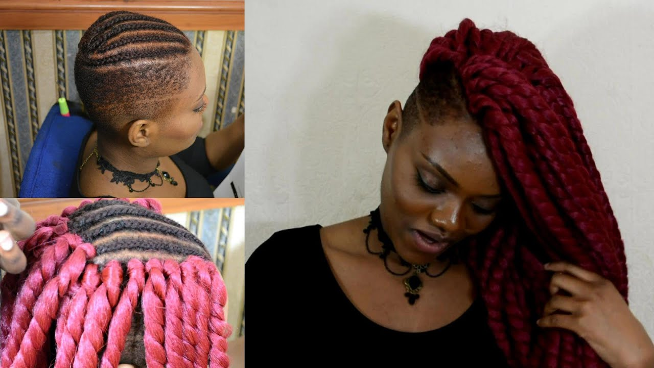 Crochet Hair Shaved Sides : Ways To Style Braids With Shaved Sides - Braids