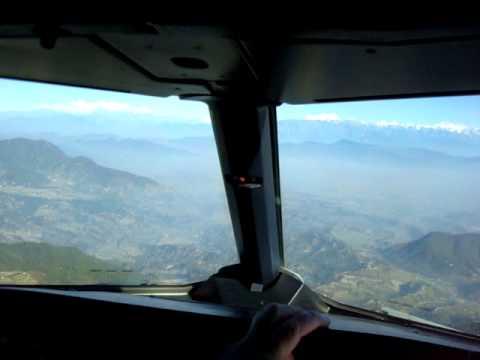 Landing in Katmandu, airbus