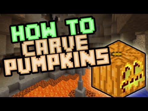 How To Make Carved Pumpkins / Jack-O-Lanterns - Minecraft Survival 2019