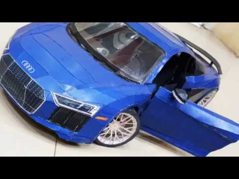 The making of Audi R8 DIY Superpapercraft