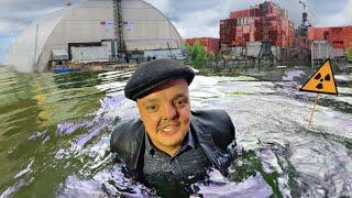 ✅Что будет если ИСКУПАТЬСЯ под Чернобыльским Реактором ☢☢☢ Ищем ГОРЯЧИЕ ЧАСТИЧКИ в Припяти 😱😱😱