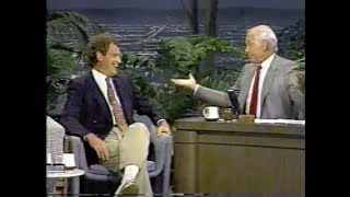 David Letterman and Johnny Carson, August 31, 1989