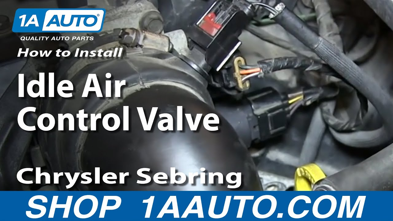 small resolution of how to replace idle air control valve 2 7l 01 06 chrysler sebring dodge stratus