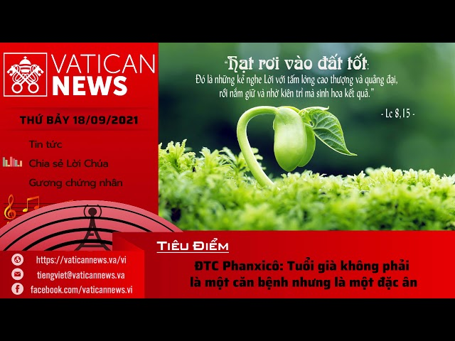 Radio thứ Bảy 18/09/2021 - Vatican News Tiếng Việt