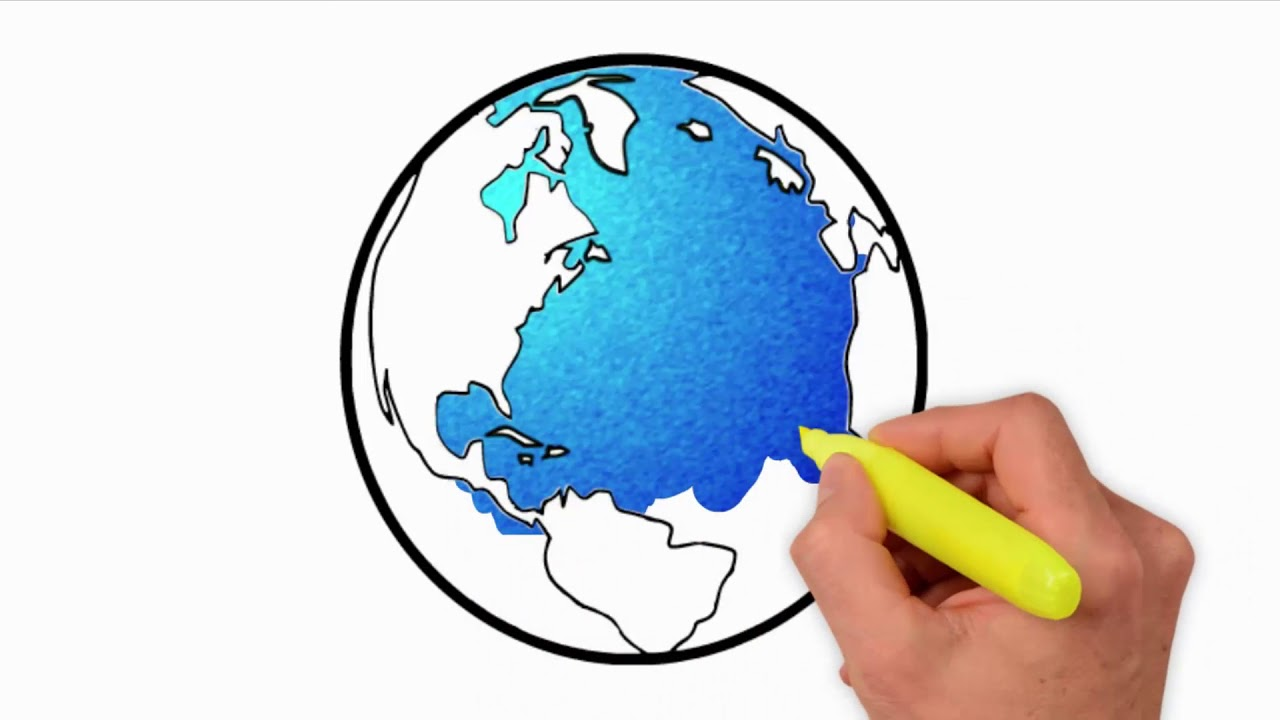 Coloring Pages-How to Draw Earth for Kids - how to draw earth | save ...