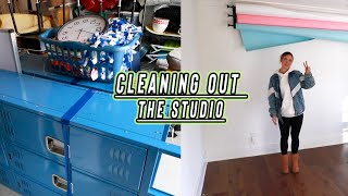 cleaning out our back to school studio!! (before and after) vlogmas day 5